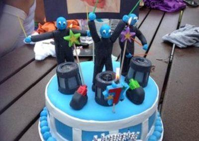 Blue Men Group Cake