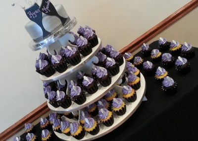 Champagne Bubbles Cake/Cupcake Tower