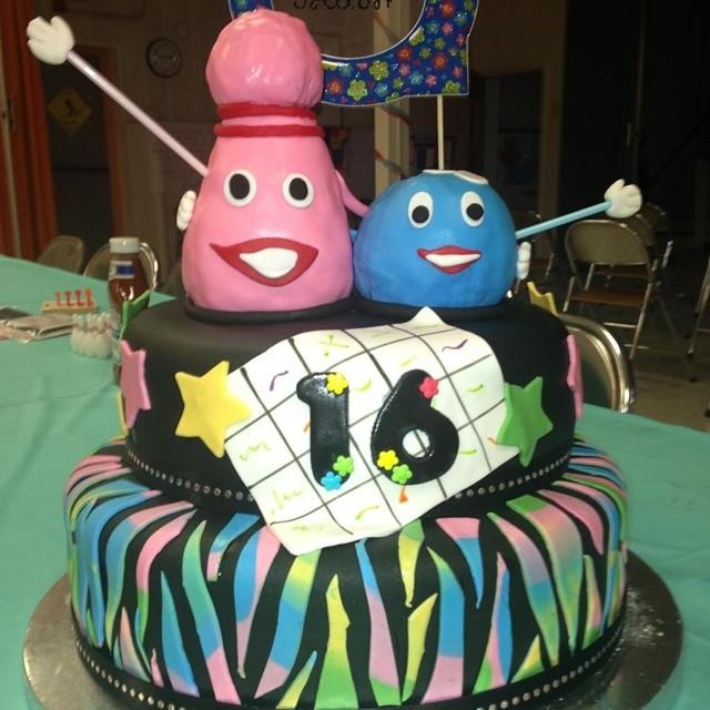 Bowling Sweet 16 Cake