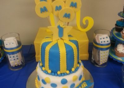 Yellow And Blue Cake