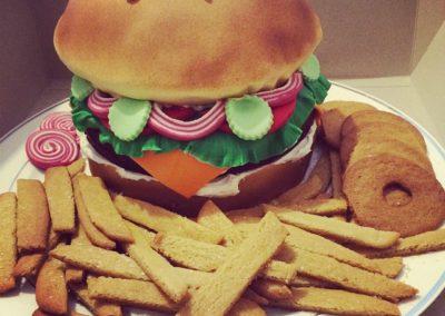 Hamburger Cake And Cookie Fries