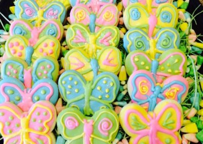 Butterfly Chocolate Covered Sugar Cookies
