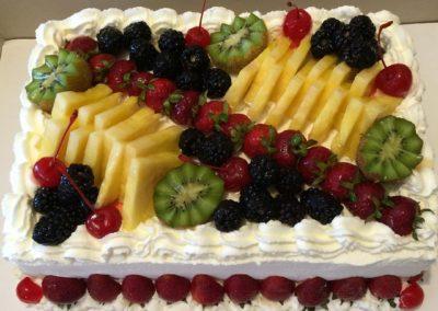 Fresh Fruit And Whipped Cream Sheet Cake