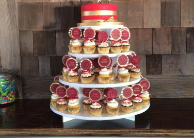 Red And Gold Cupcake Tower