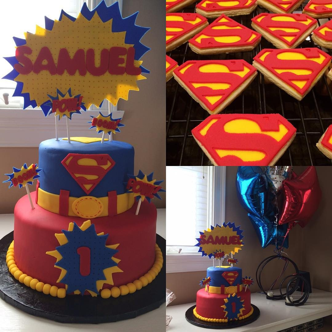 Superman Cake And Cookies