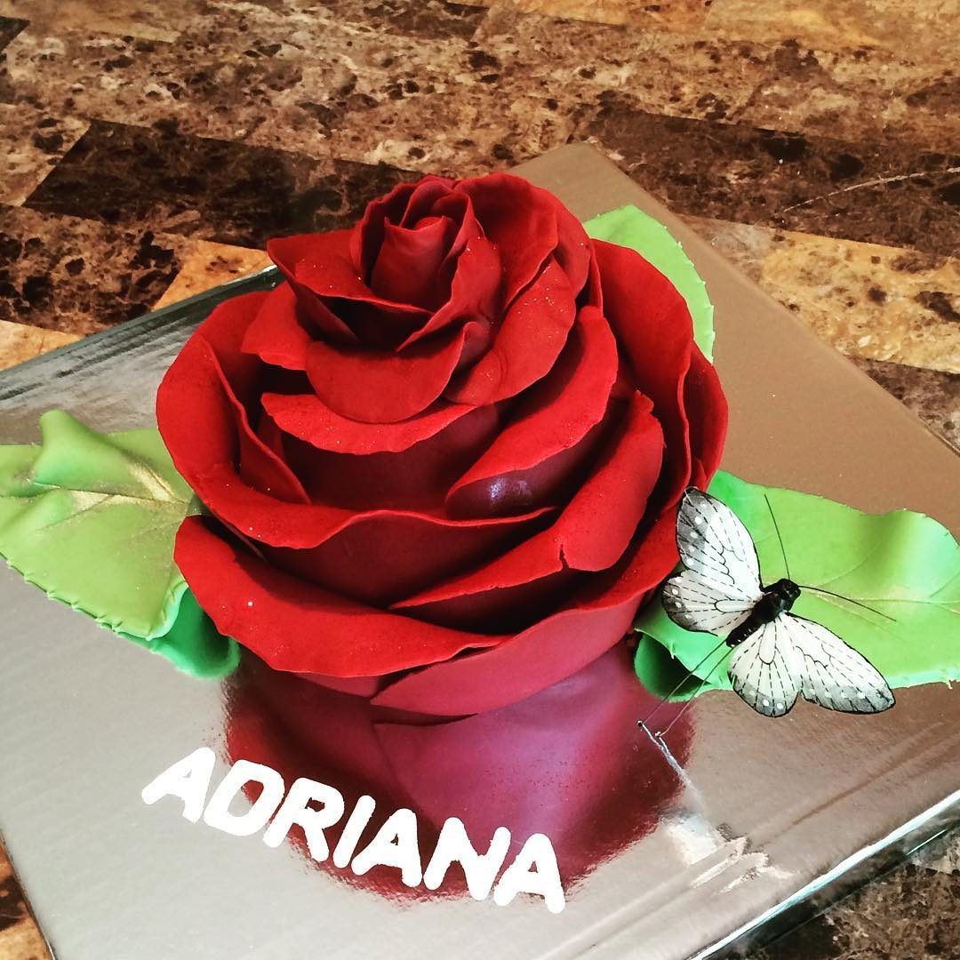 Blooming Rose Cake