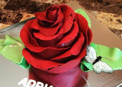 Blooming Rose Cake