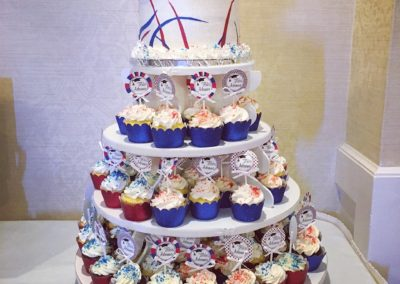 Red White And Blue Cupcake Tower