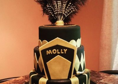Black And Gold Sweet 16 Cake