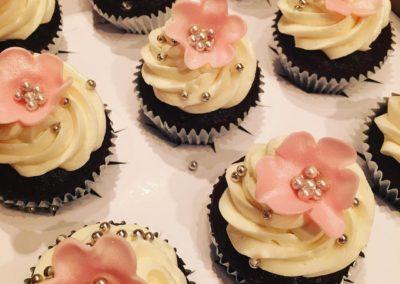 Blush Flower Cupcakes