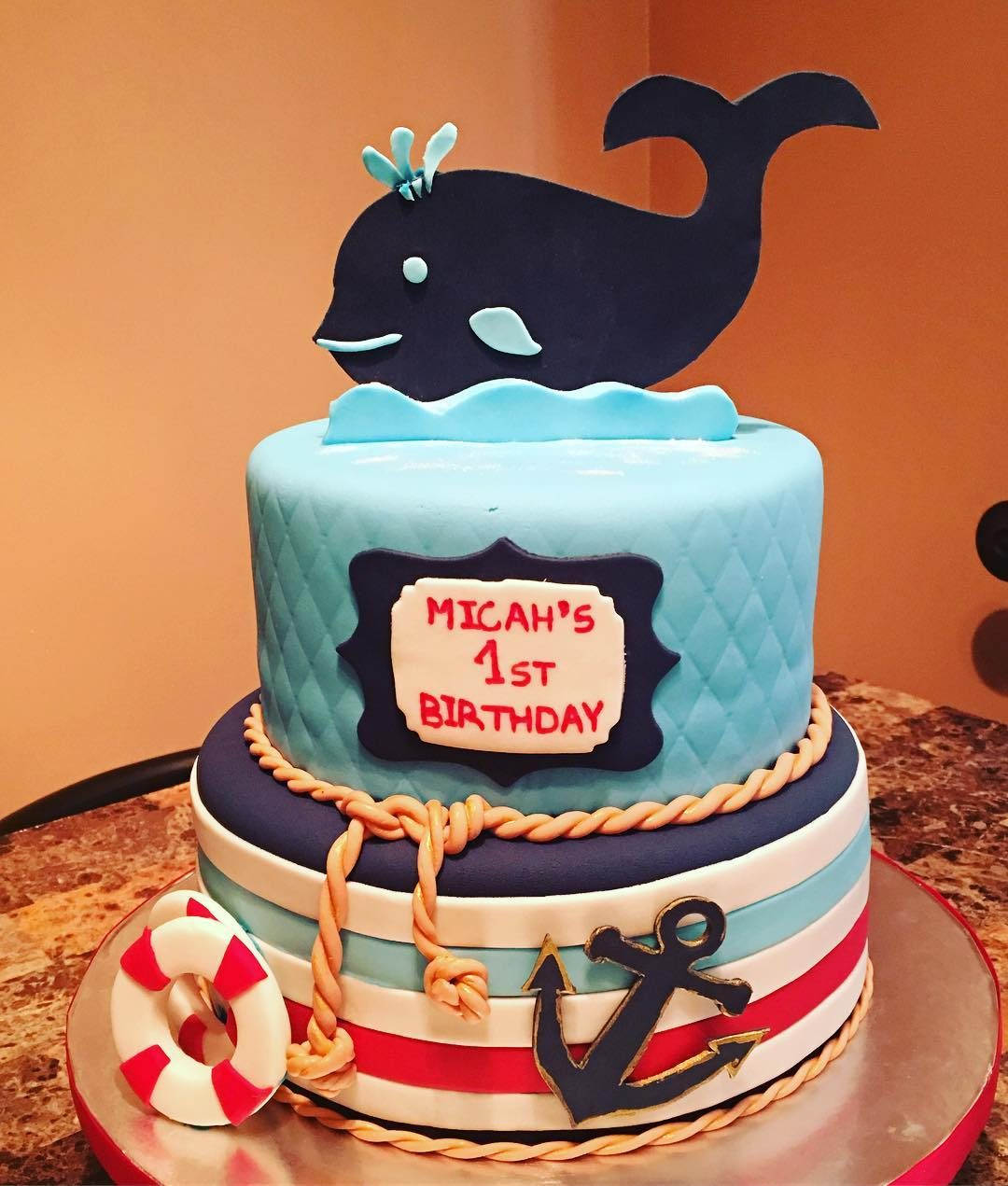 Tremendous Nautical Birthday Cake A La Vanille Personalised Birthday Cards Veneteletsinfo