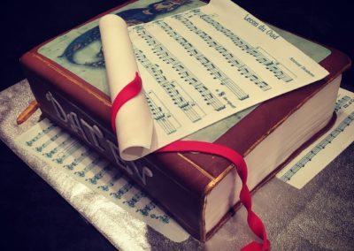 Music Book Cake