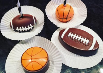 Sports Cake Pops And Chocolate Covered Oreos