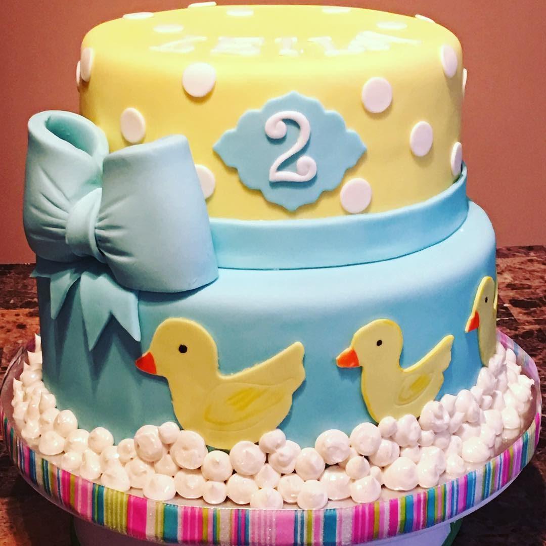 Phenomenal Rubber Ducky Birthday Cake A La Vanille Funny Birthday Cards Online Inifodamsfinfo