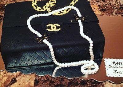 Coco Chanel Purse Cake