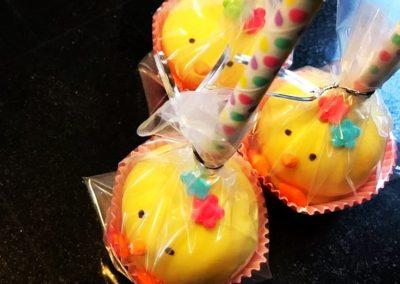 Easter Chick Cake Pops
