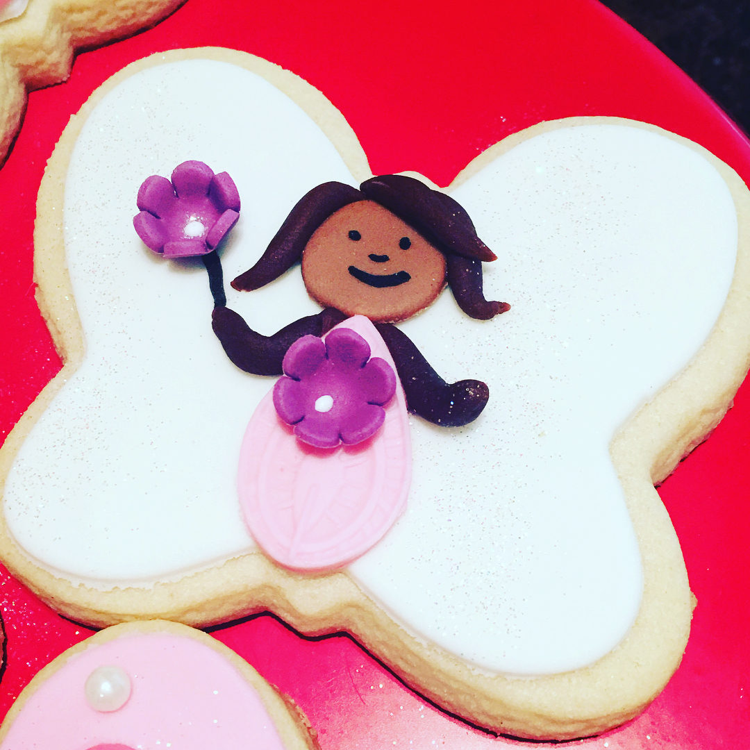 Butterfly Girl Cookies