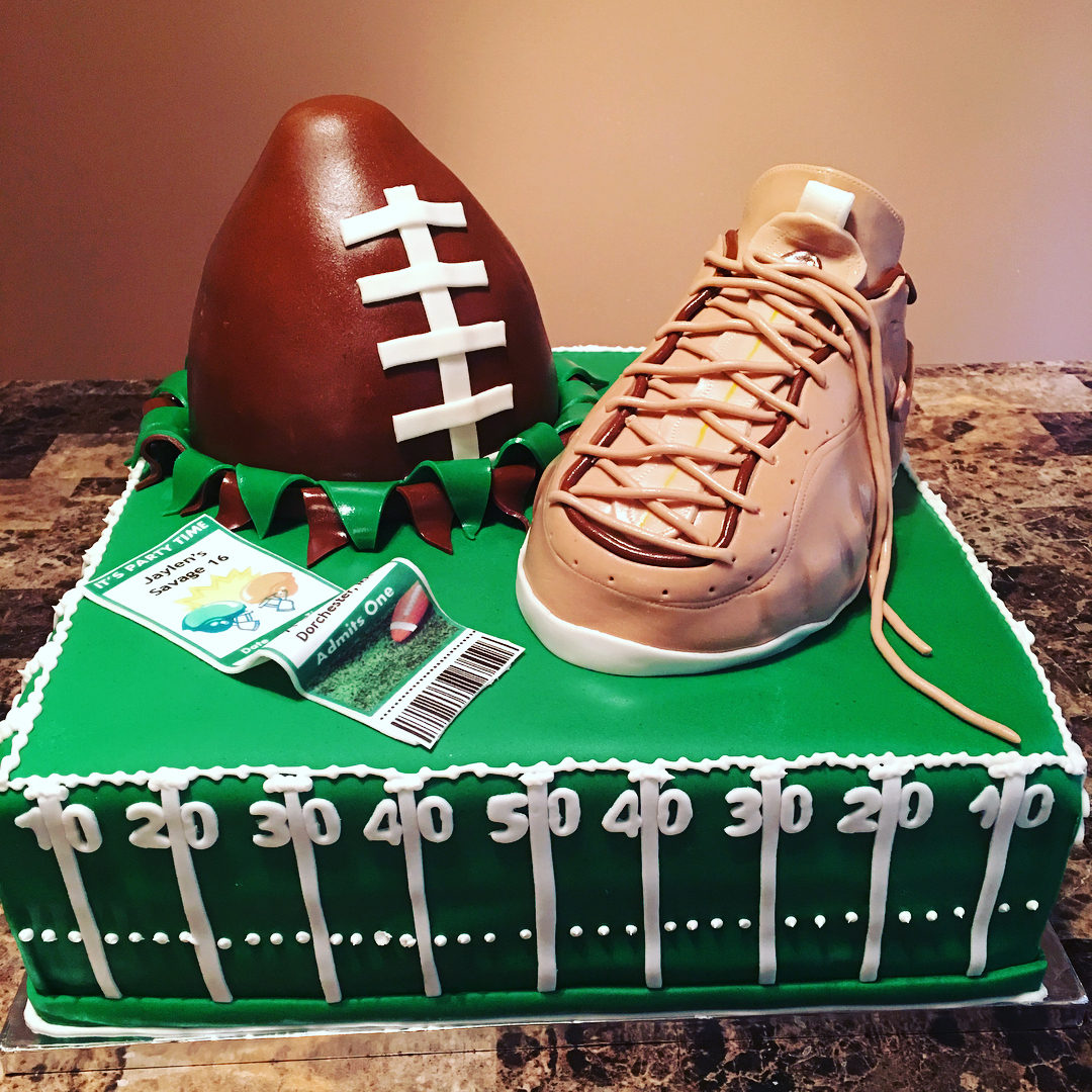 Foams And Football Cake