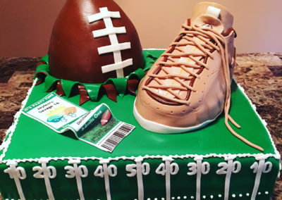 Foams And Football Cake