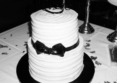 Tuxedo Bow Birthday Cake