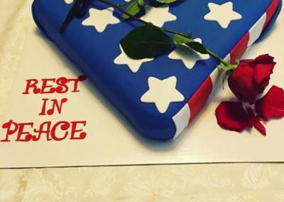 Folded Flag Cake