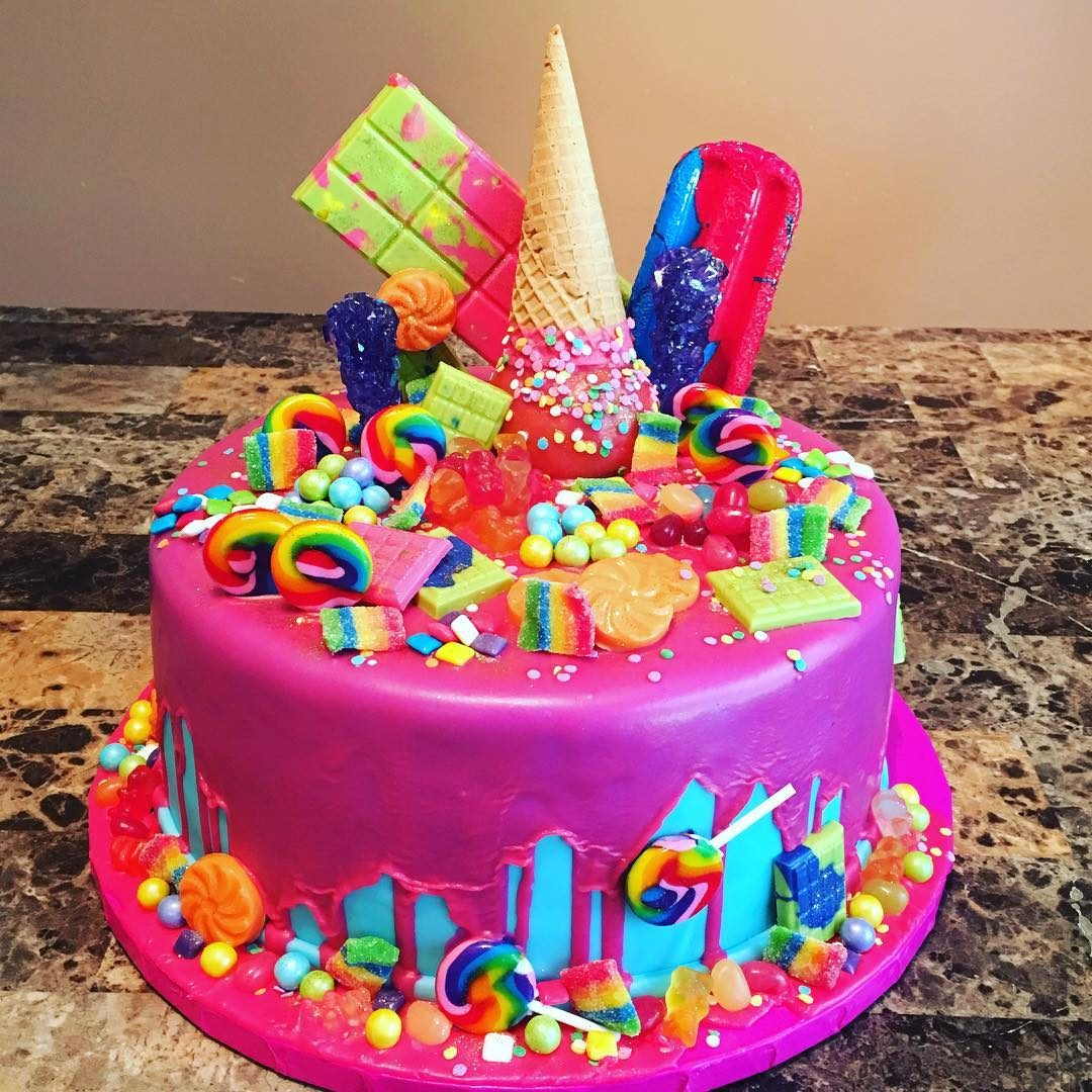 Incredible Candy Cake A La Vanille Funny Birthday Cards Online Bapapcheapnameinfo