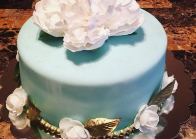 80th Blue And Gold cake